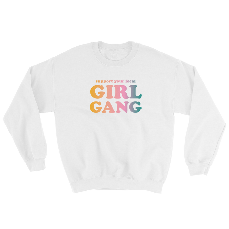 Dazey X Girl Gang White Crewneck