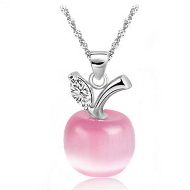 Valentines day pendant necklace crystal apple saleoff valentines day pendant necklace crystal apple pendant necklace sale aloadofball Gallery