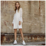 56de0a940869 White and more Ingrid kjole Dress 235 Cloud dancer