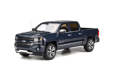 GT Spirit 1/18 Chevrolet Silverado 2018 Steel Blue Metallic GT212