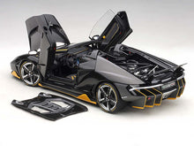 AUTOART 1/18 LAMBORGHINI CENTENARIO ROADSTER (CLEAR CARBON WITH YELLOW ACCENTS) 79119