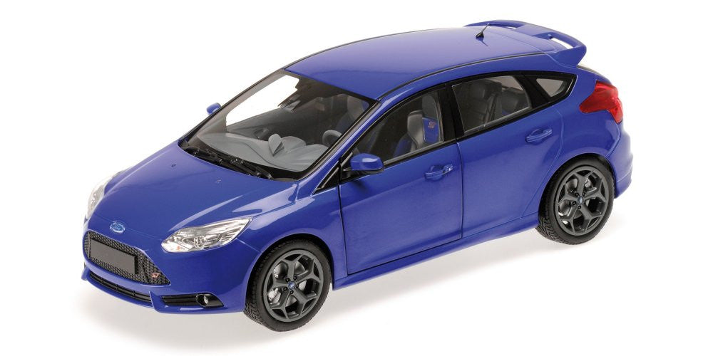 MINICHAMPS 1/18 FORD FOCUS ST 2011 BLUE METALLIC 110082001