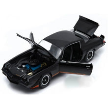Greenlight 1/18 1978 Chevrolet Camaro Z28 Black with Orange Stripes 12902