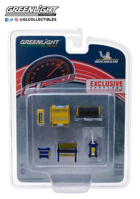 GreenLight 1/64 GL Muscle Shop Tools Michelin Tires 13161