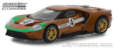 GreenLight 1/64 Ford Racing Heritage Series 2 - 2017 Ford GT 1966 #4 Ford GT40 Mk II Tribute 13220-A