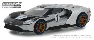 GreenLight 1/64 Ford Racing Heritage Series 2 - 2017 Ford GT 1966 #7 Ford GT40 Mk II Tribute 13220-B