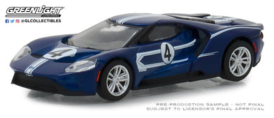 GreenLight 1/64 Ford Racing Heritage Series 2 - 2017 Ford GT 1967 #4 Ford GT40 Mk.IV Tribute 13220-C