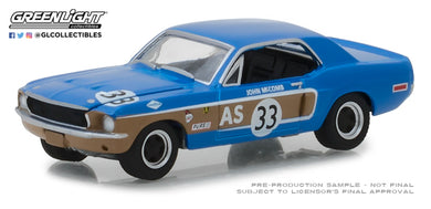 GreenLight 1/64 Ford Racing Heritage Series 2 - 1968 Ford Mustang #33 John McComb Trans-Am Continental Divide 13220-E