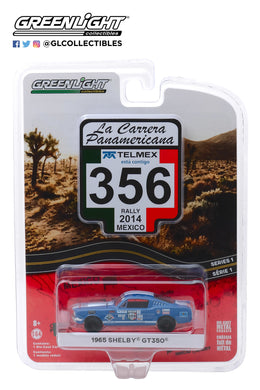 GreenLight 1/64 La Carrera Panamericana Series 1 - #356 1965 Ford Shelby GT350 (La Carrera Panamericana 2014) 13240-B