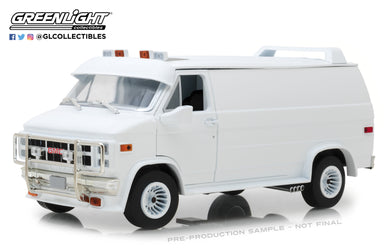 GreenLight 1/18 1983 GMC Vandura Custom - White 13522