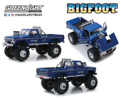 GreenLight 1:18 Kings of Crunch - Bigfoot #1 - 1974 Ford F-250 Monster Truck with 48-Inch Tires 13537