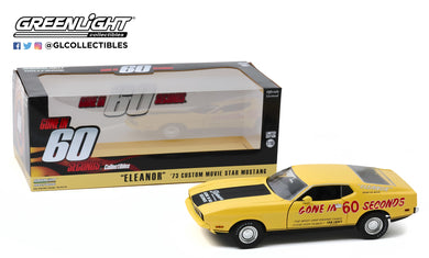 GreenLight 1:18 Gone in Sixty Seconds (1974) - 1973 Ford Mustang Mach 1 Eleanor (Post-Filming Tribute Edition) 13548