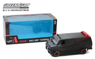GreenLight 1:18 The A-Team (1983-87 TV Series) - 1983 GMC Vandura (Weathered Version with Bullet Holes) 13567