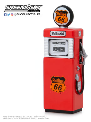GreenLight 1:18 Vintage Gas Pumps Series 7 - 1951 Wayne 505 Gas Pump Phillips 66 Ethyl 14070-A