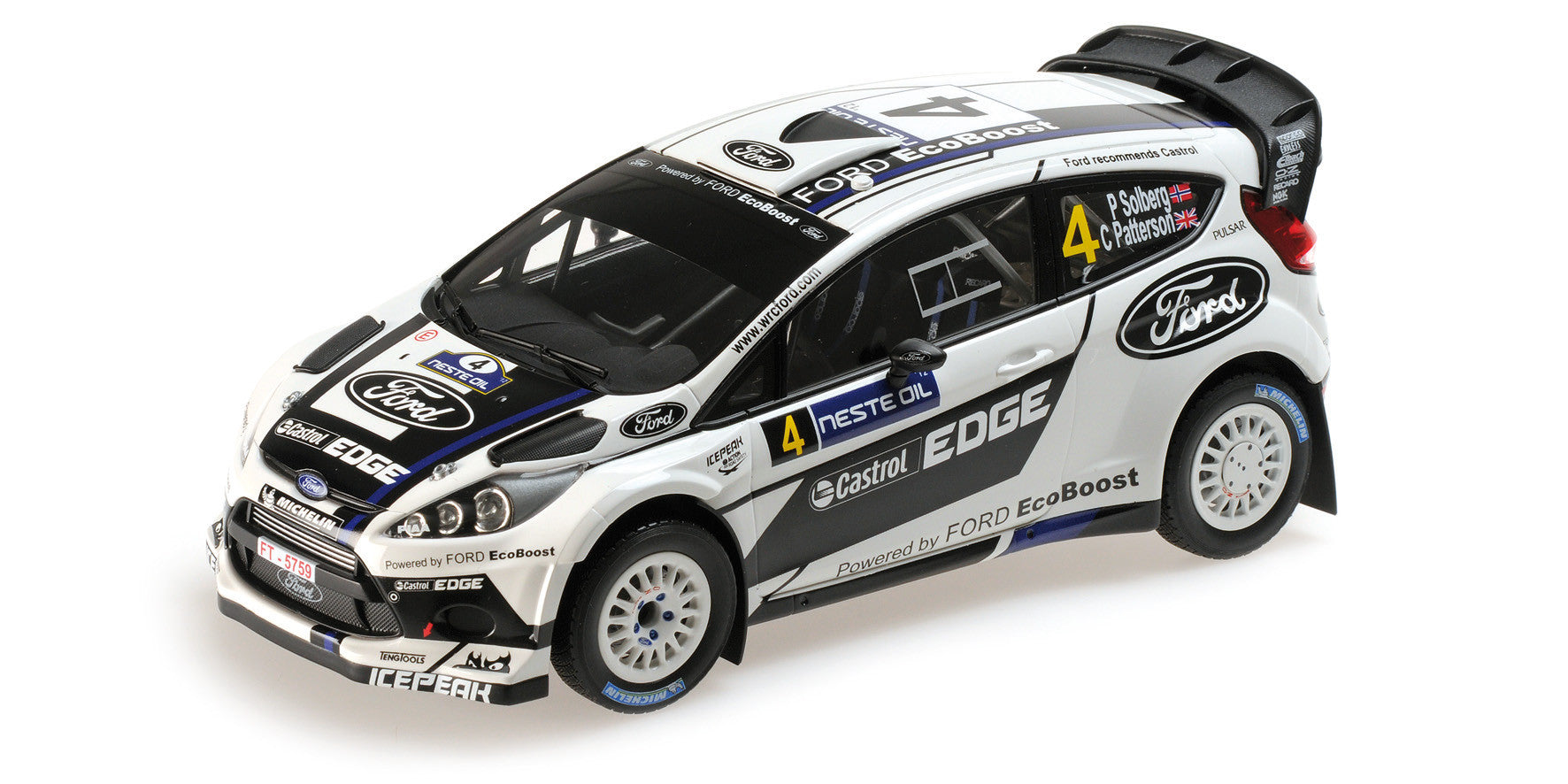 MINICHAMPS 1/18 FORD FIESTA RS WRC RALLY FINLAND 2012 #4 151120804