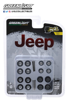 GreenLight 1/64 Auto Body Shop - Wheel & Tire Packs Series 1 - Jeep 16010-C
