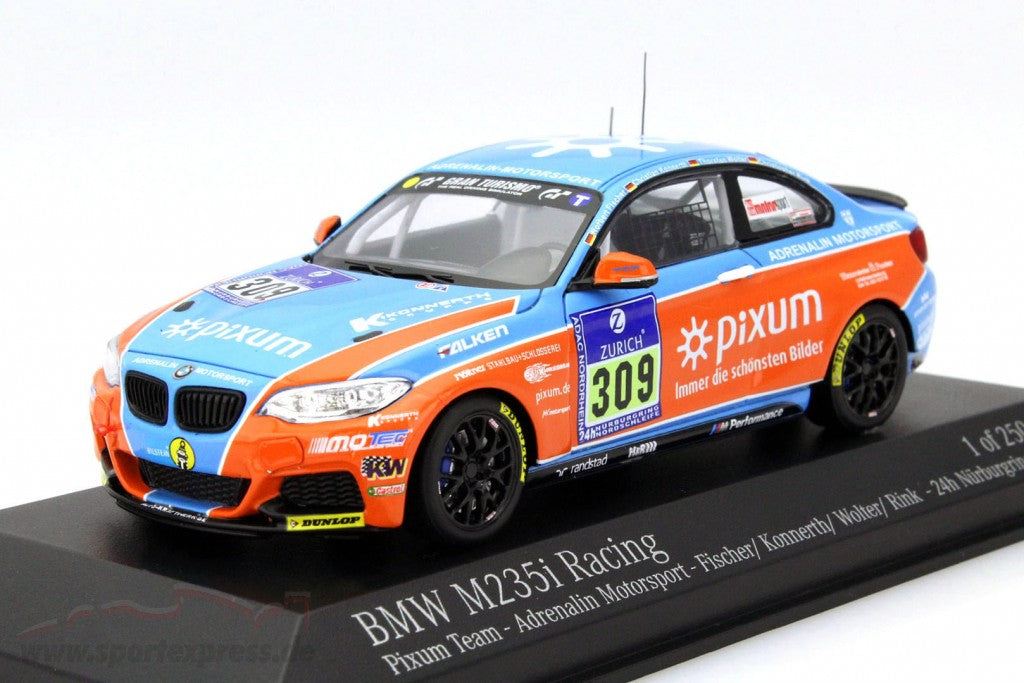 MINICHAMPS 1/43 BMW M235I RACING PIXUM TEAM ADRENALIN 24H NÜRBURGRING #309 2015 437152509