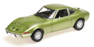 Minichamps 1/18 Opel GT 1900 1972 Green Metallic 180049029