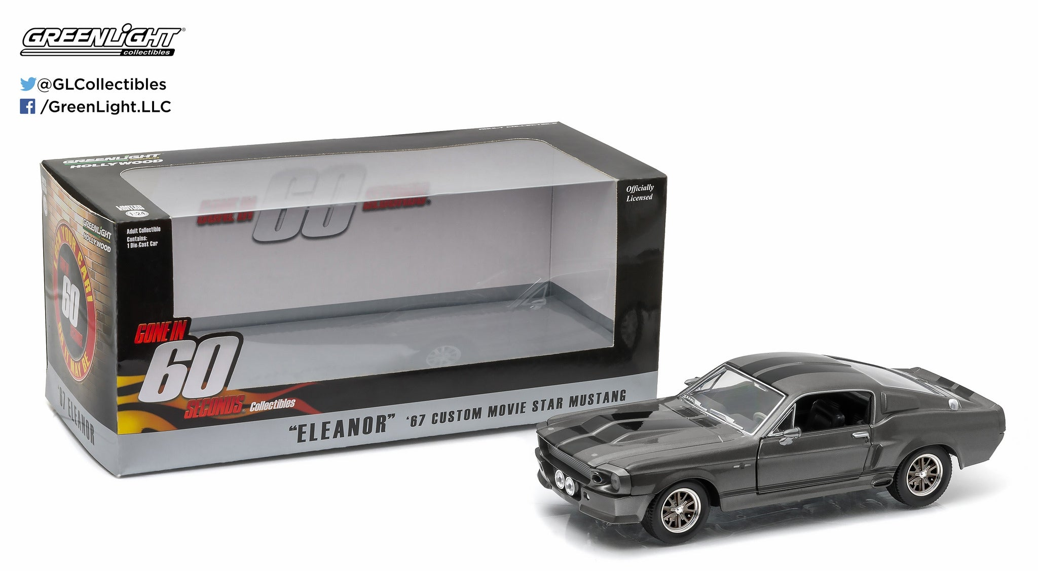 Greenlight 1/24 Gone in Sixty Seconds (2000) 1967 Ford Mustang Eleanor 18220