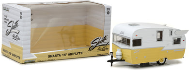 GreenLight 1/24 Shasta 15' Airflyte - White and Yellow 18235