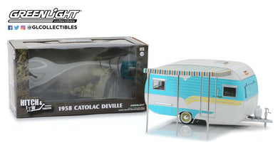 GreenLight 1/24 Hitch & Tow Trailers Series 5 - 1958 Catolac DeVille Travel Trailer 18450-A