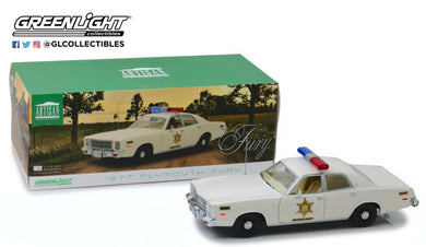 GreenLight 1/18 Artisan Collection - 1977 Plymouth Fury - Hazzard County Sheriff 19055