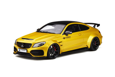 GT Spirit 1/18 Mercedes Benz C-Clase C 63 AMG Coupe Prior Design PD65CC 2018 Solar beam yellow GT235