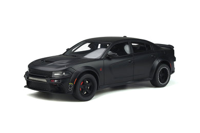 GT Spirit 1:18 2020 Dodge Charger SRT Hellcat Widebody Tuned by Speedkore Matte Black GT301