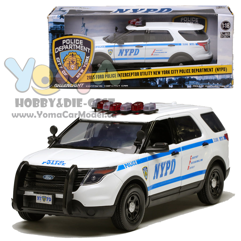 GreenLight 1/18 2015 Ford Police Interceptor Utility New York City Police Department (NYPD) 12973