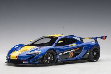 AUTOART 1/18 McLAREN P1 GTR (METALLIC BLUE/YELLOW STRIPES) 81542