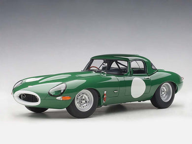 AUTOART 1/18 JAGUAR LIGHTWEIGHT E-TYPE (OPALESCENT DARK GREEN) 73648