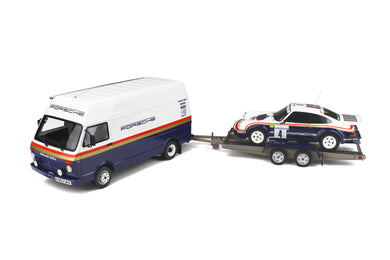 OTTO 1:18 3-Car Set Winner Rally of the 1000 Pistes 1984 Rothmans Volkswagen LT35 Service Van / Trailer / Porsche 911 SC RS #4 OT331