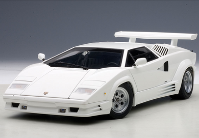AUTOART 1/18 LAMBORGHINI COUNTACH 25th ANNIVERSARY EDITION (WHITE) 74537