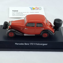 Schuco 1/43 Mercedes-Benz 170 V wood Gasification red/black 450246600