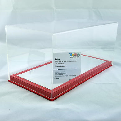 1/18 32cm*16cm*14cm Display Box Mirror red base