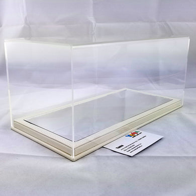1/18 32cm*16cm*14cm Display Box Mirror white base