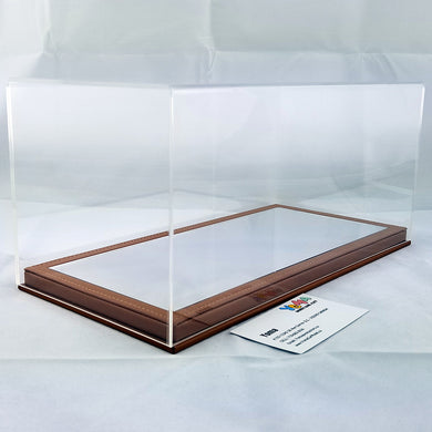 1/18 32cm*16cm*14cm Display Box Mirror Brown base