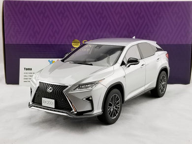 KYOSHO SAMURAI 1/18 LEXUS RX Platinum Silver Metallic Resin Model Car KSR18014S