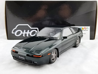 OTTO 1/18 Toyota SUPRA 2.5 Twin Turbo R JZA70 Dark Green Resin Model Car OTM709