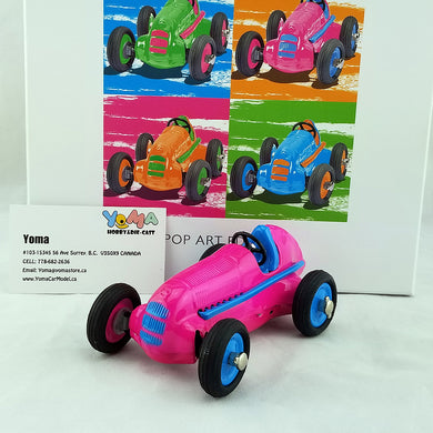 SCHUCO 1/24 POP ART EDITION I Studio 1 Diecast Clockwork Racing car pink 450111300