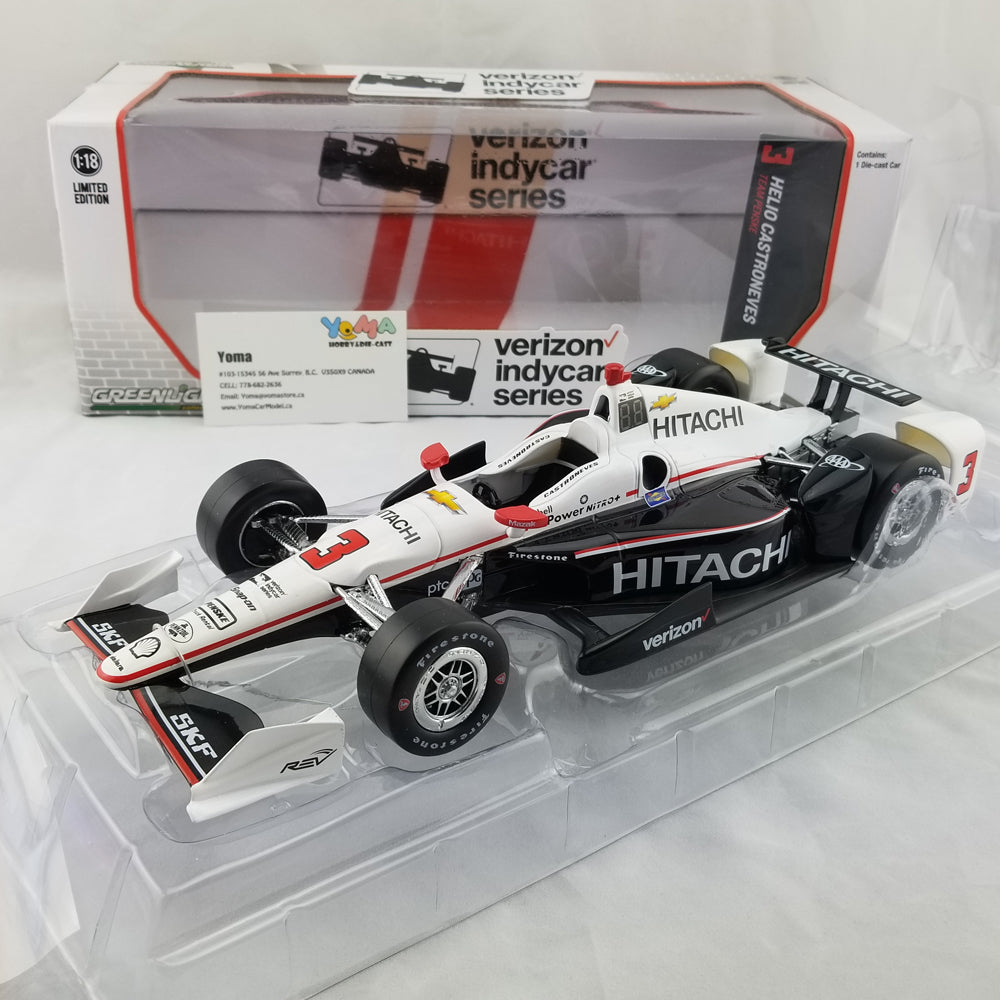 GreenLight 1/18 2017 Indycar Series #3 Helio Castroneves / Penske Racing, Hitachi Diecast Model Car 11001