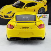Schuco 1/18 Porsche Cayman GT4 Yellow Diecast Model Car 450040000