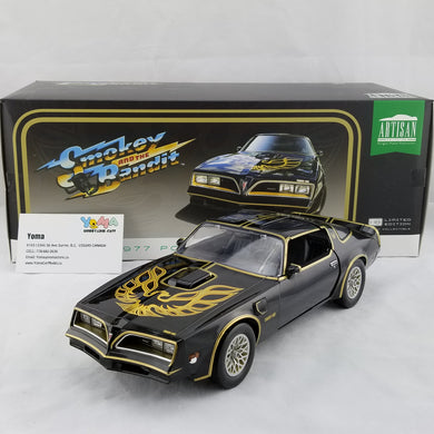 GreenLight 1/18 Artisan Collection Smokey and the Bandit 1977 Pontiac Firebird Trans Am Diecast Model Car 19025
