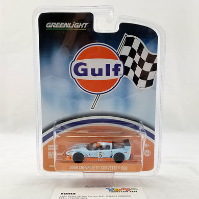 GreenLight 1/64 2009 Chevrolet Corvette C6.R Gulf Oil Diecast Model Car 29885