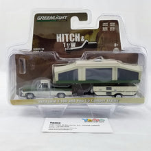 GreenLight 1/64 Hitch & Tow Series 10 - 1970 Ford F-100 with Pop-Up Camper Trailer Diecast Model Car 32100-B