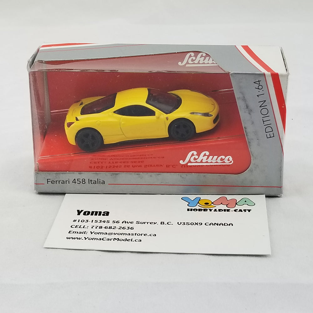Schuco 1/64 Ferrari 458 Italia yellow Diecast Model Car 452011600