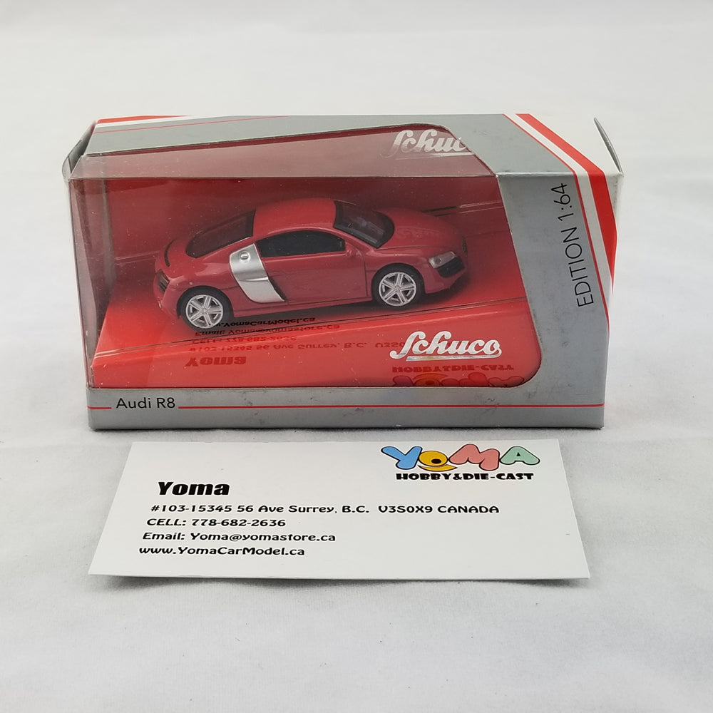 Schuco 1/64 Audi R8 Coupe Red Diecast Model Car 452010900