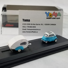 Schuco 1/87 BMW Isetta Export with Home Trailer Caravan H0 Diecast Model Car 452610300