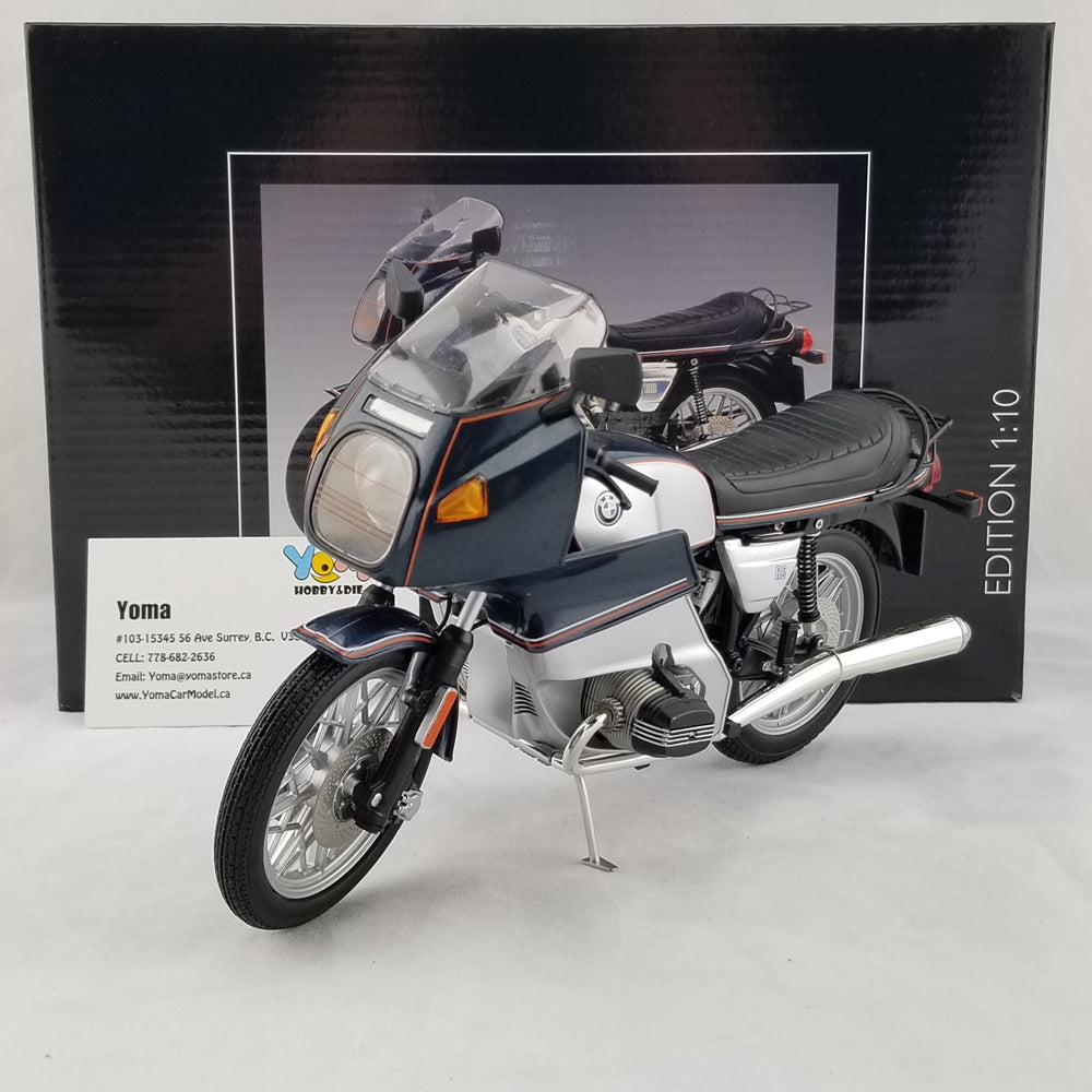 Schuco 1/10 BMW R 100 RS blue-silver metallic Diecast Model Motorcycle 450650800