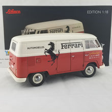 Schuco 1/18 Volkswagen T1b Ferrari Automobile box van Francorchamps Diecast Model Car 450036700
